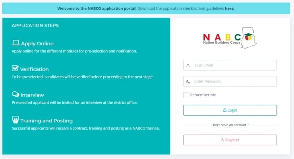 How to apply to NABCO programme?
