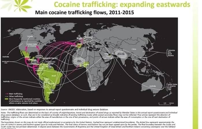 Ghana ranks 2nd largest trafficker of cocaine in Africa