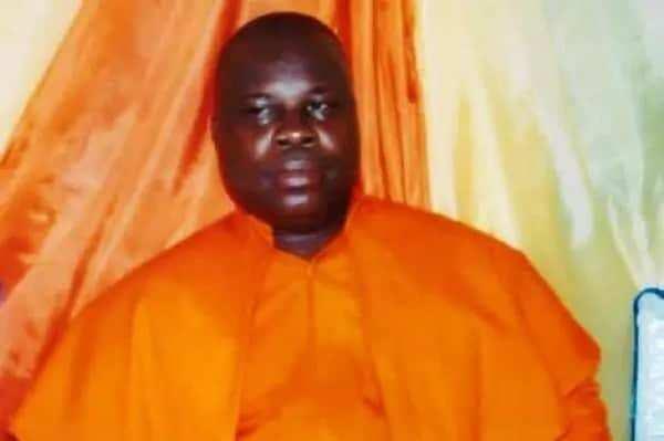 A man wearing an orange robe