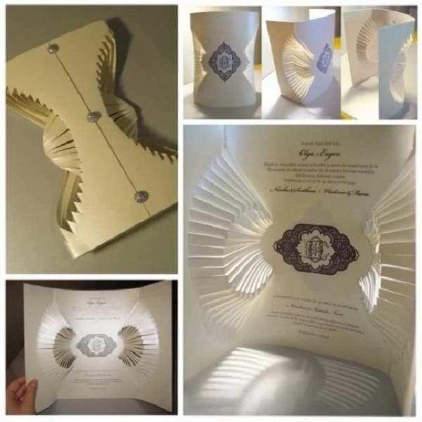 Unique wedding invitation card design - Origami wedding invitation