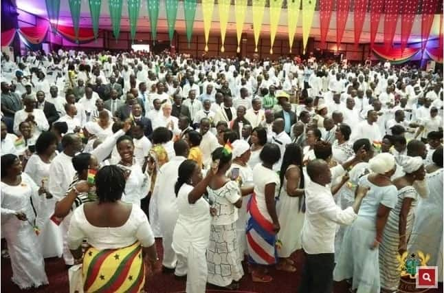 Photos of NPP's mega thanksgiving service one year on
