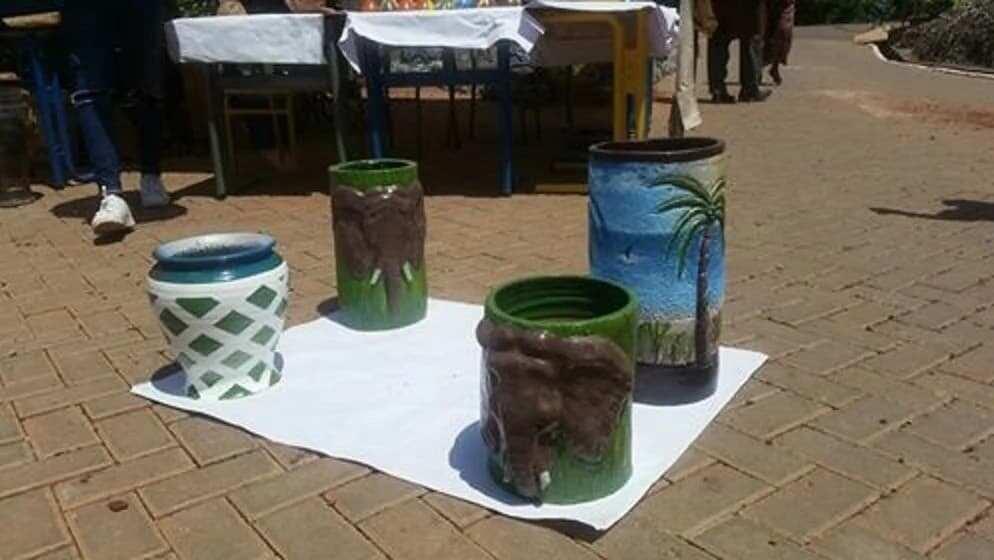 Beautifully designed vases