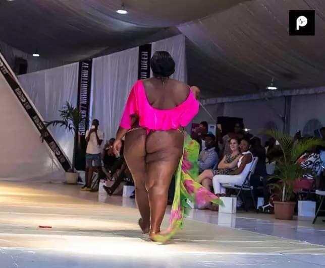 Accra Fashion Week: Plus size models rock in bikinis on the runway