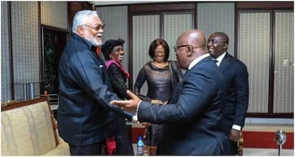 After snubbing Mahama, Rawlings laughs excitedly with Akufo-Addo in new photos