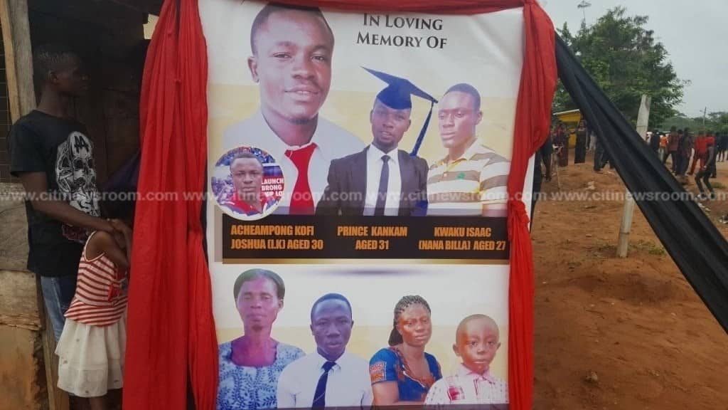 Seven persons killed in accident involving Collins Dauda's car buried