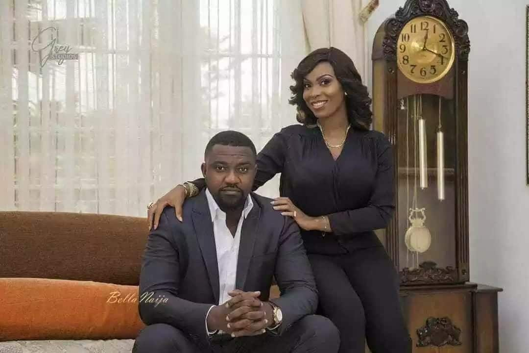 John Dumelo and wife, Gifty Mawunya. Image credit: Instagram.com/ Bella Naija