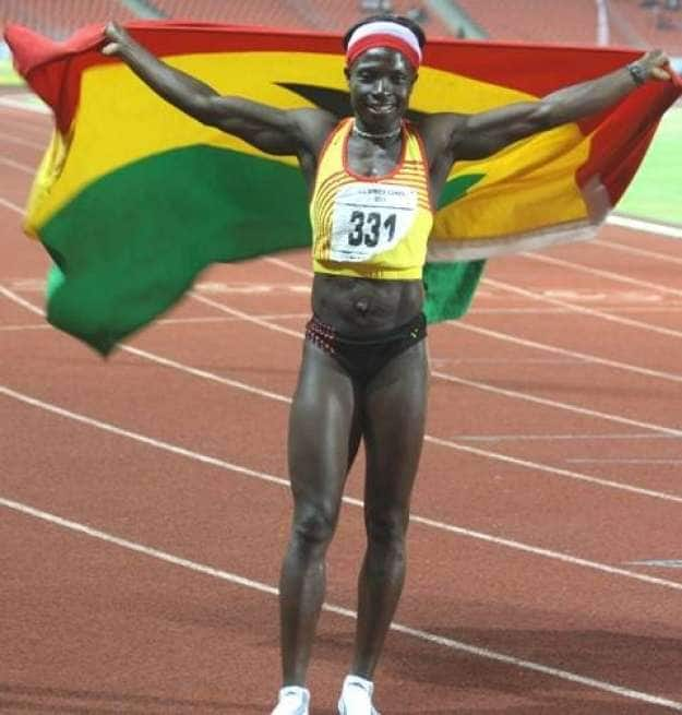 Ghana's finest heptathlete, Margaret Simpson now sells cooking oil to make a living