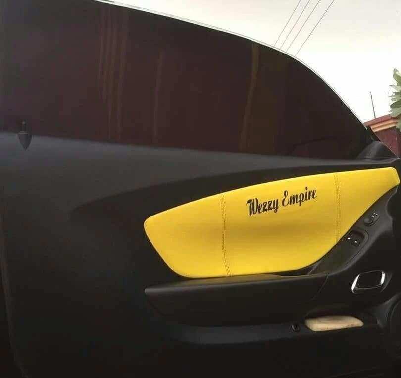 Kwadwo Nkansah 'Lil Win' shows off his new customised car