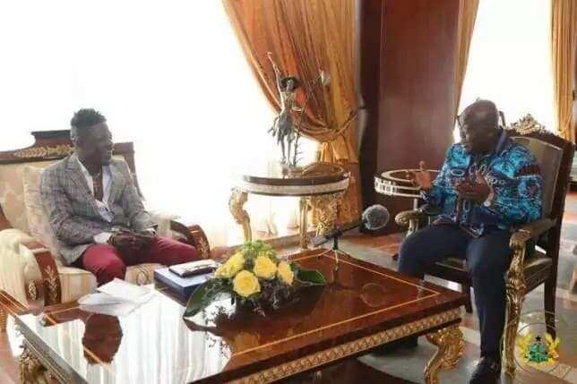 President Nana Akufo-Addo and Shatta Wale