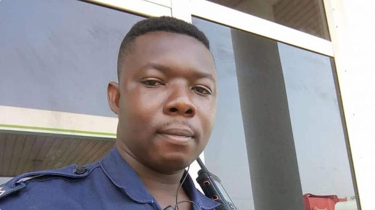 Corporal Skalla, the policeman who brutalized the nursing mother. Photo credit: Sourced