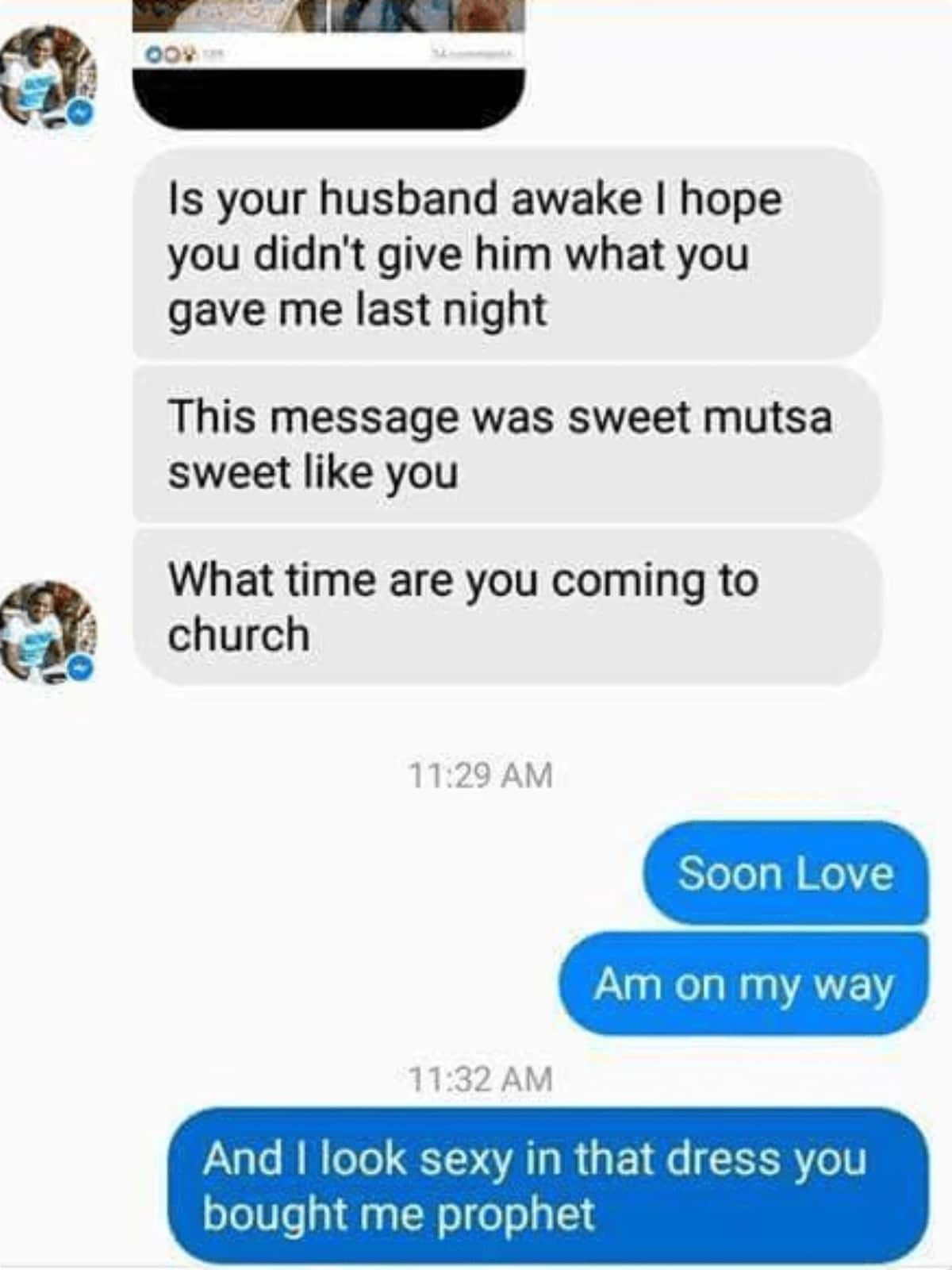 Text messages between top prophet and a married woman leaks