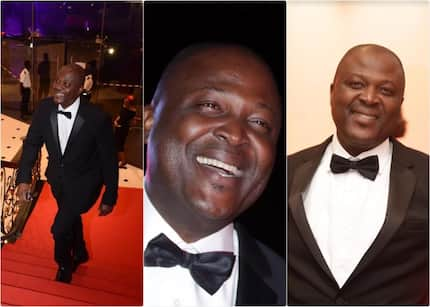 Classic Man: Ibrahim Mahama shows his other side as he steps out to party in grand style (Photos)