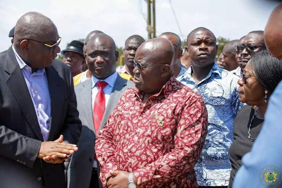 That sad moment when Nana Addo stood silently and watched the wreckage of Atomic Junction gas explosion