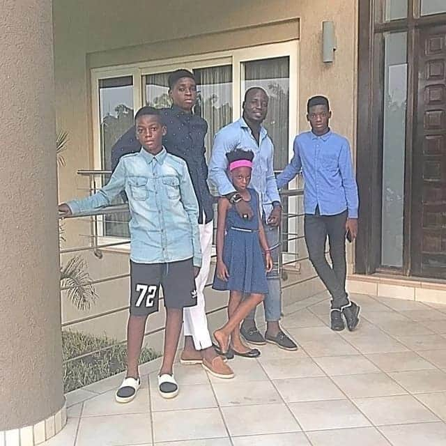 Stephen Appiah and children