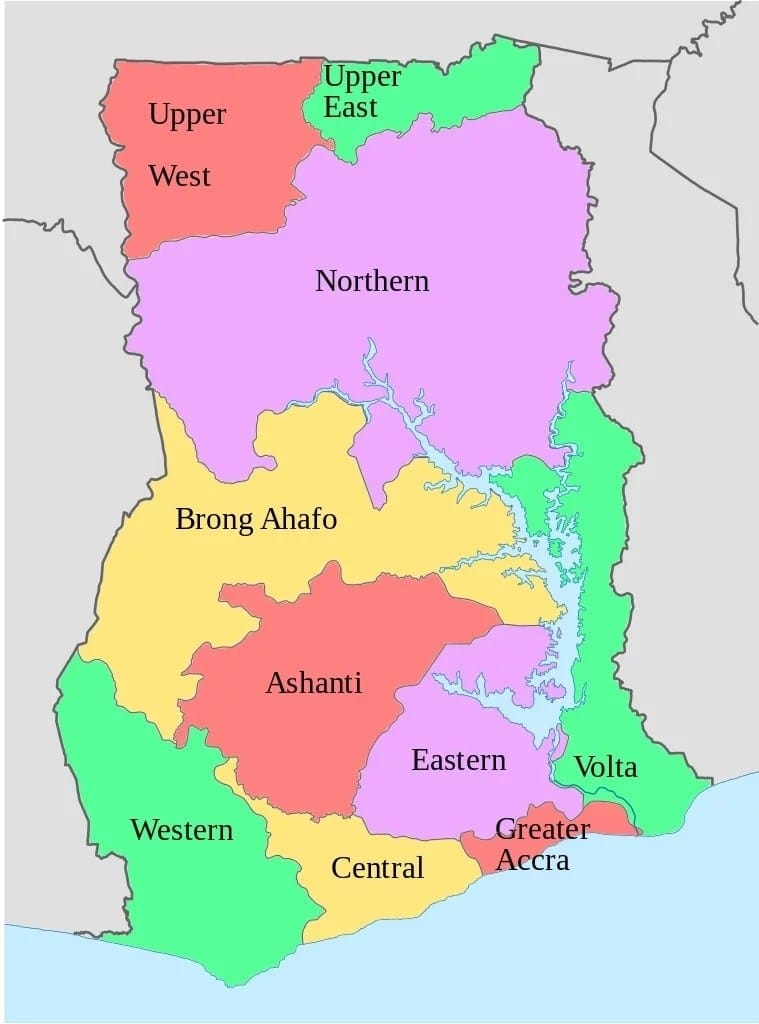 Western Region of Ghana Districts and Capitals