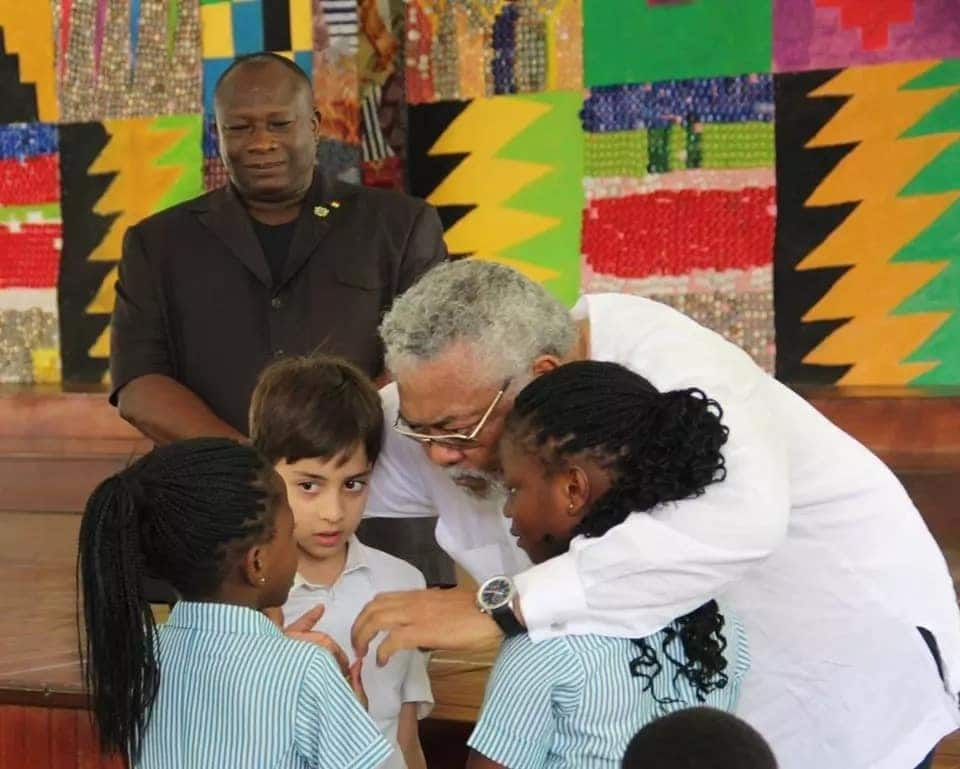 Rawlings schools 2-year-olds on why Nkrumah Memorial Part was established