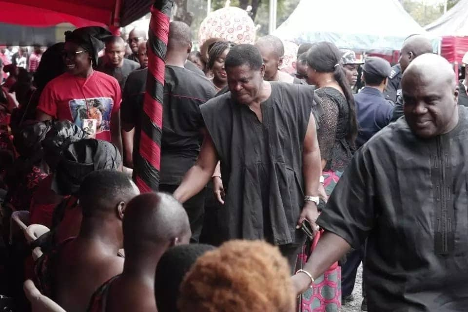 Ebony drags top NDC officials to her funeral as they mourn in clear photos