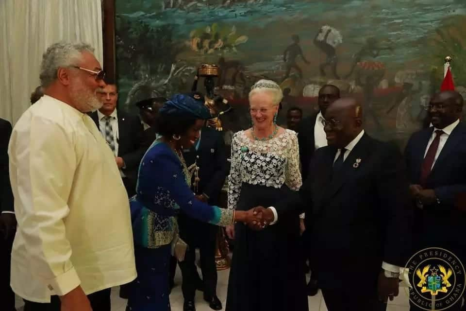 Akufo-Addo, Rawlings and Kufour dine with Danish queen