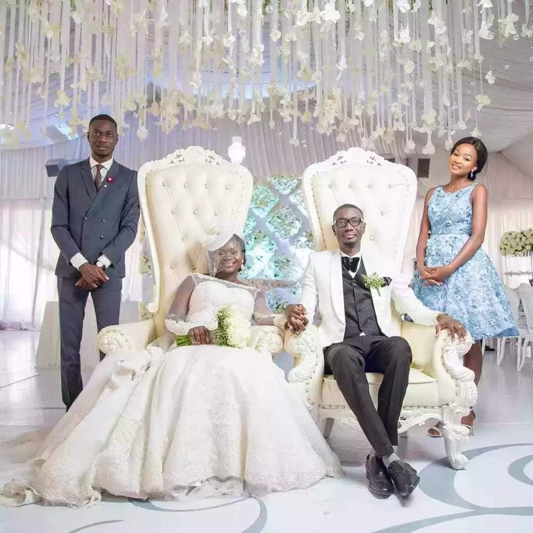 Photos from naming ceremony of Ameyaw Debrah's son at his wedding