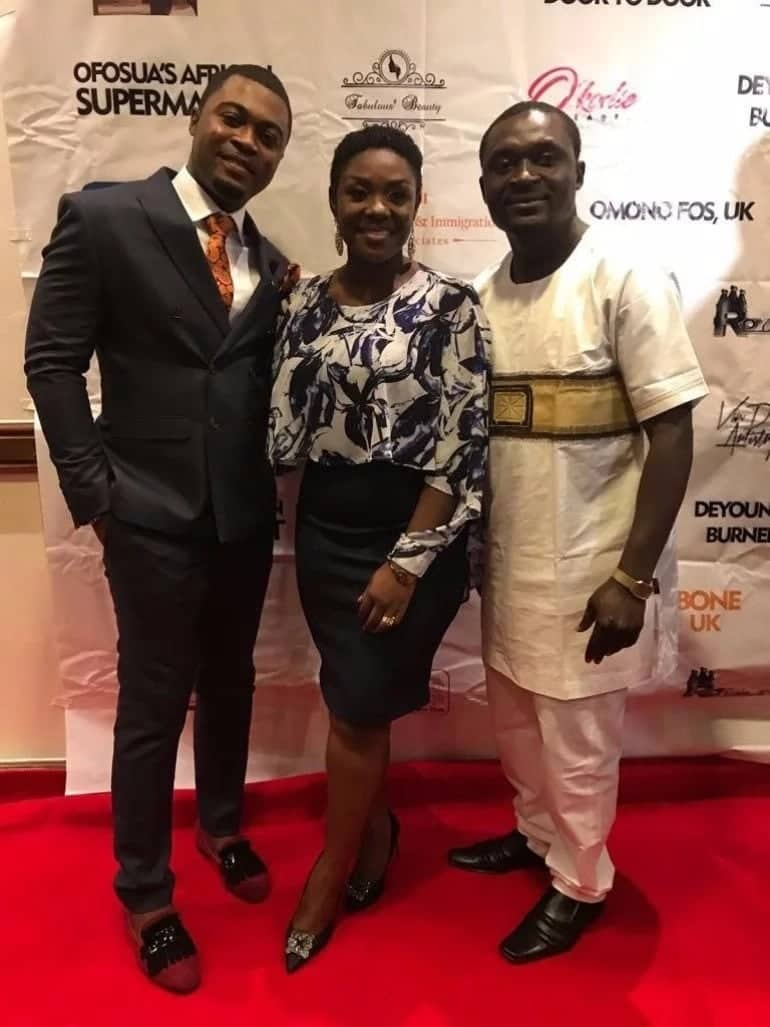 Emelia Brobbey shares beautiful photos of her movie, Adanfo Bone, premiered in London (Photos)