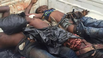 Find out how Kumasi police foiled armed robbery, 3 killed (Graphic photo)