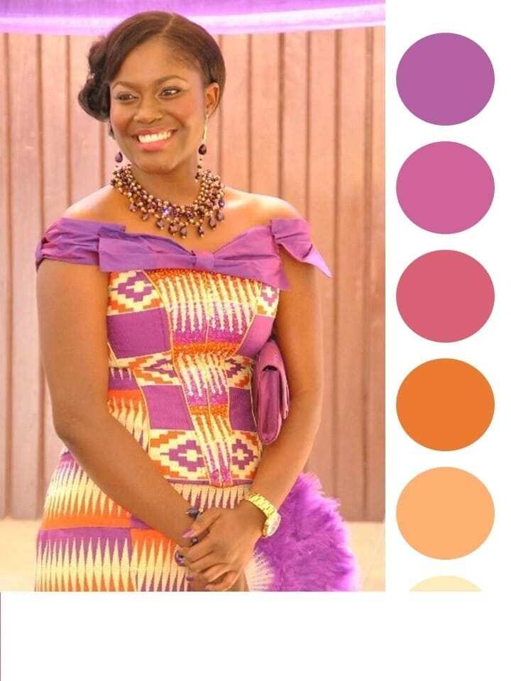 15 best purple Kente dresses designs 2018