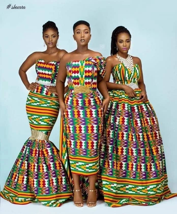Kente styles for occasions.