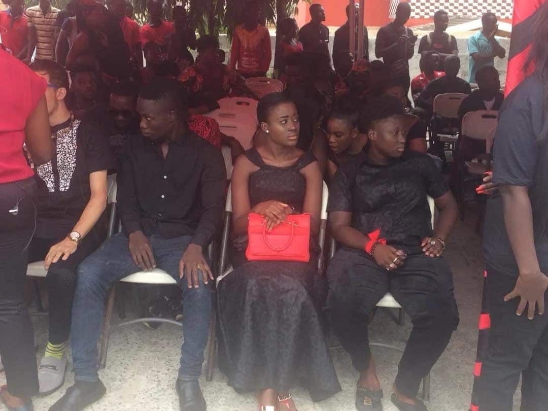 First photos from Ebony's one-week rites