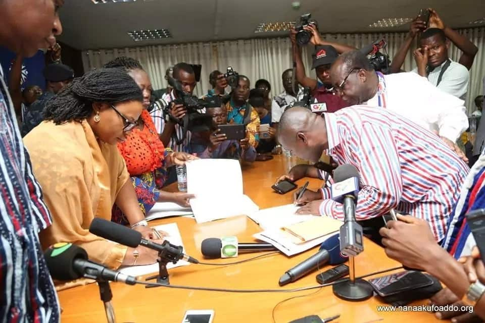 Photos: Everything that happened when Akufo-Addo picked his nomination forms