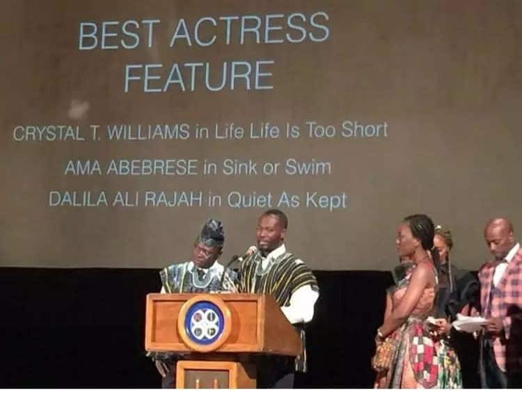 Am K Abebrese picks up top international film award