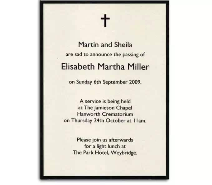 How To Write A Funeral Invitation Letter Yen Com Gh