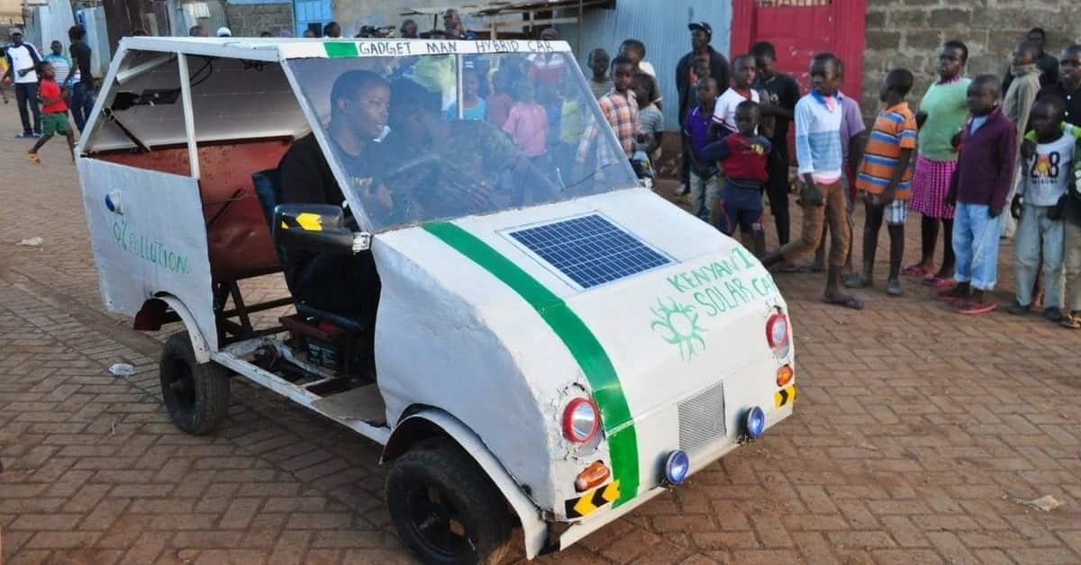 30-year-old Samuel Karumbo develops small solar-powered car and it looks amazing
