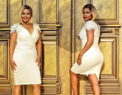 Nana Ama Mcbrown is a vision of pure elegance in this dazzling white dress