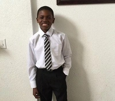 13-year-old Ghanaian Simon-Peter Frimpong meets Obama