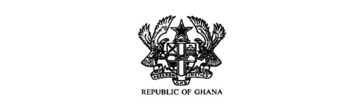 Ghana Coat of Arms Black and White Picture and Meaning