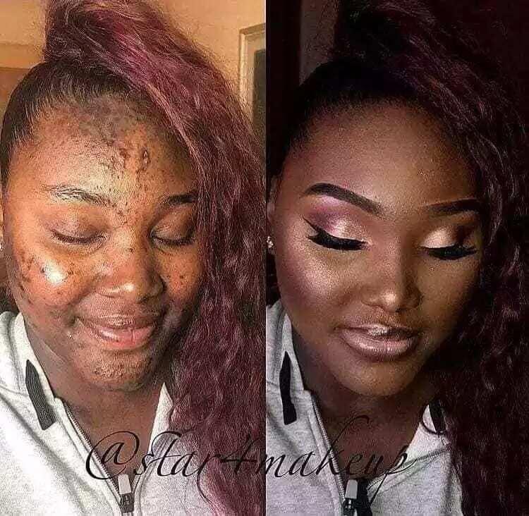 Photos of beautiful makeup transformation fsacinate social media users