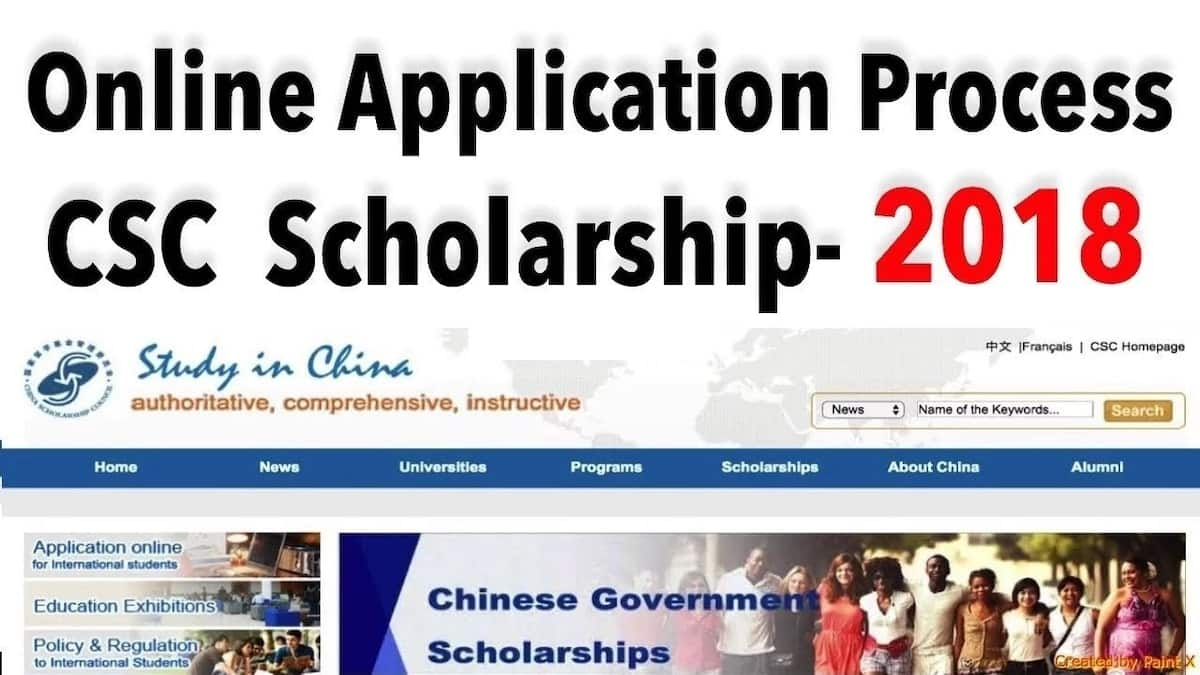 Chinese government scholarship online application 2018-2019