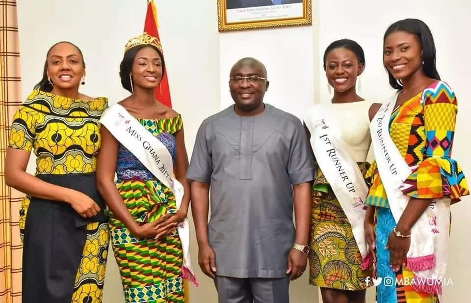 Bawumia receives Miss Ghana winners in courtesy visit