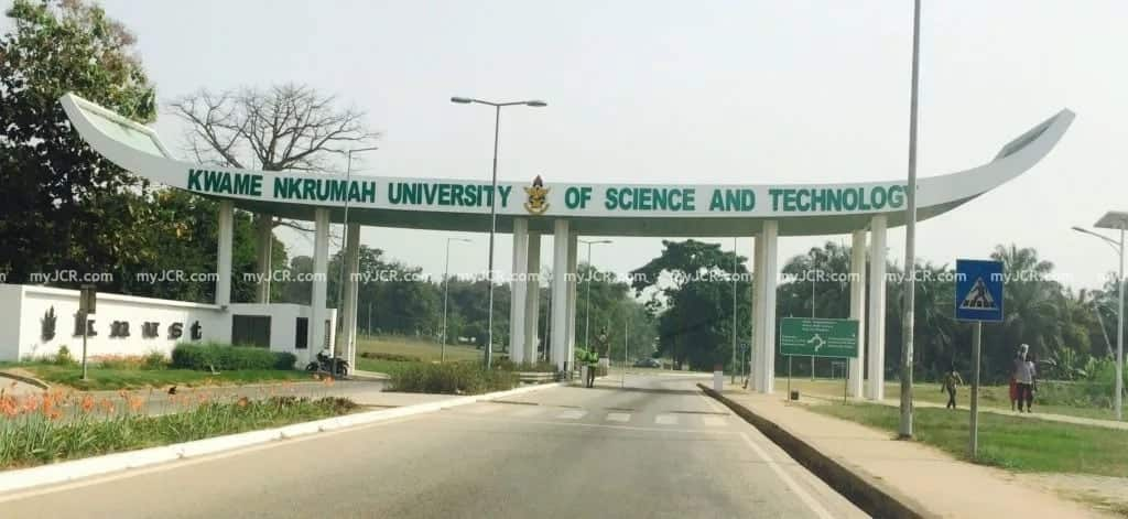 The main entrance of the Kwame Nkrumah University of Science and Technology