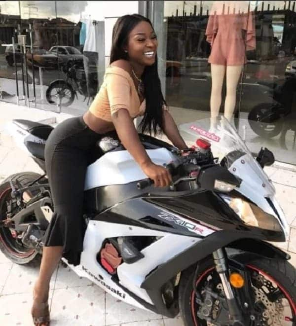 Actress Efia Odo rides a power bike and everyone is talking about it