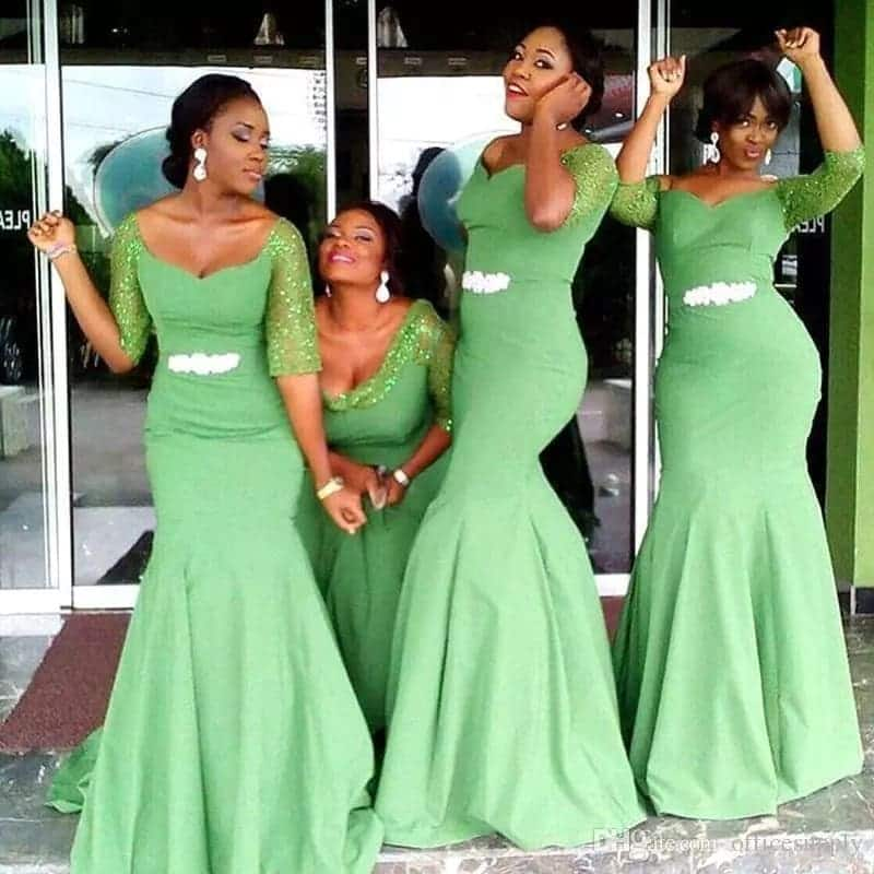 Simple Wedding Gowns In Kenya: African Bridesmaid Dress Styles In Ghana YEN.COM.GH