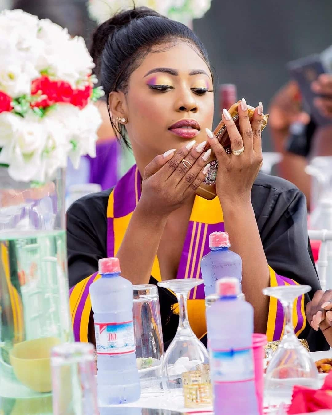 Selly Gaelley blends African and Asian style in this creative wedding guest fashion inspiration