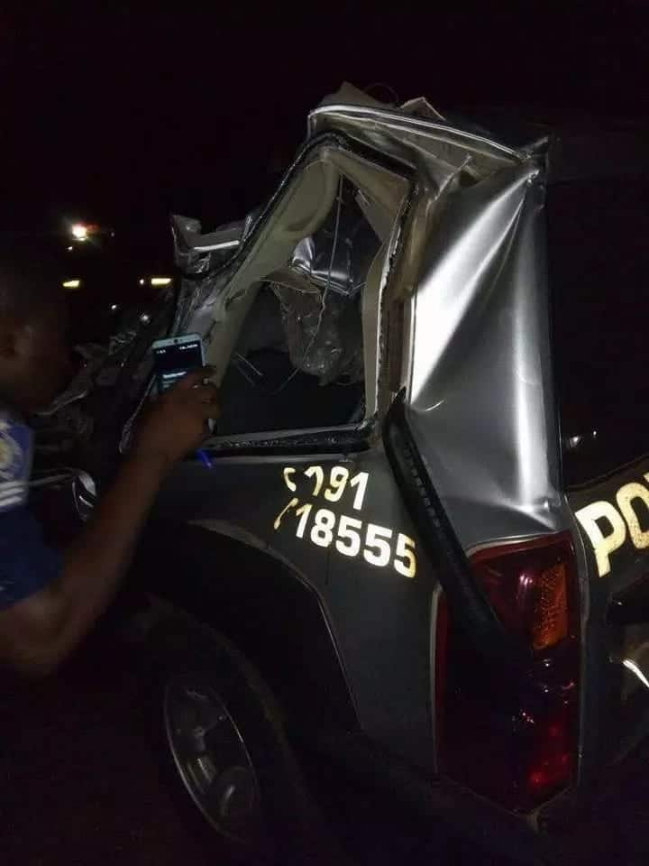 Superintendent Kofi Sarpong involved in accident at Nkawkwaw