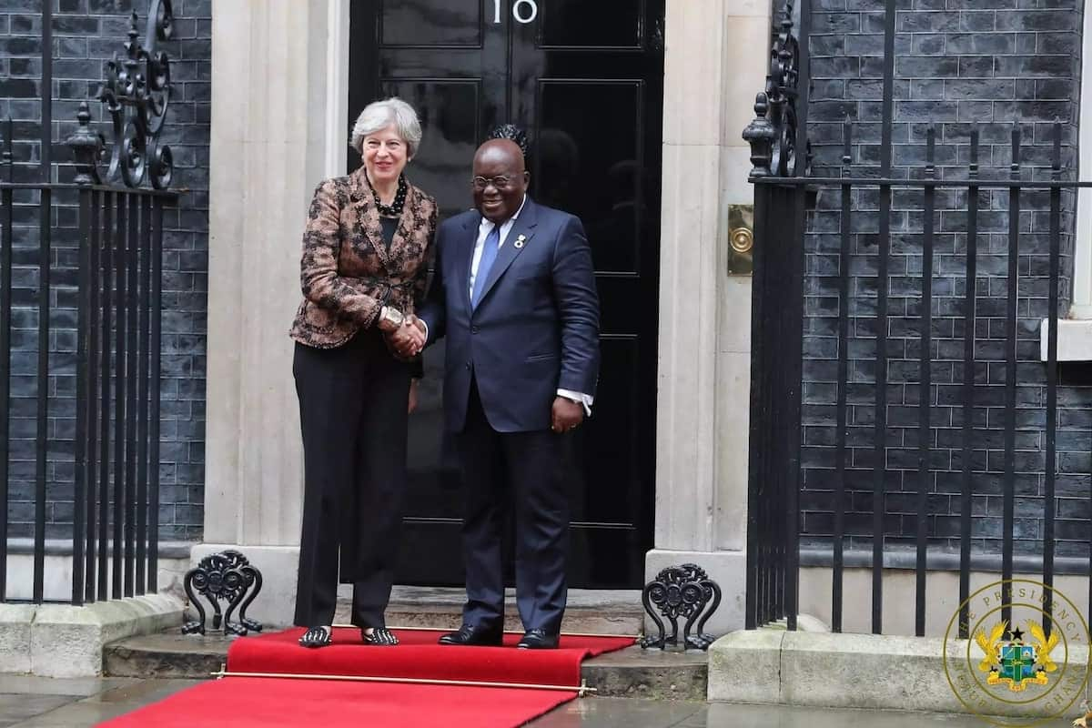 Nana Addo meets UK prime minister, Theresa May
