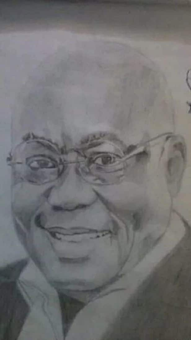 A drawing of a man