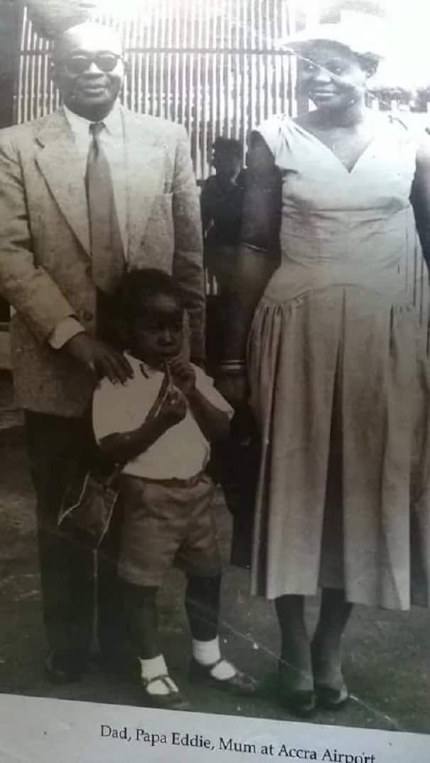 Childhood photos of Akufo-Addo with his family members