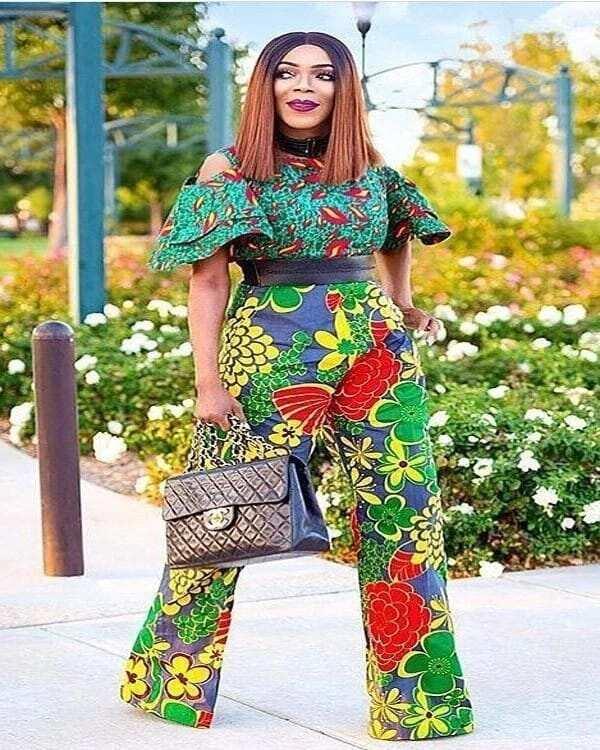 african print jumpsuit plus size