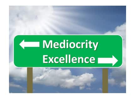 How to escape the doom of  mediocrity
