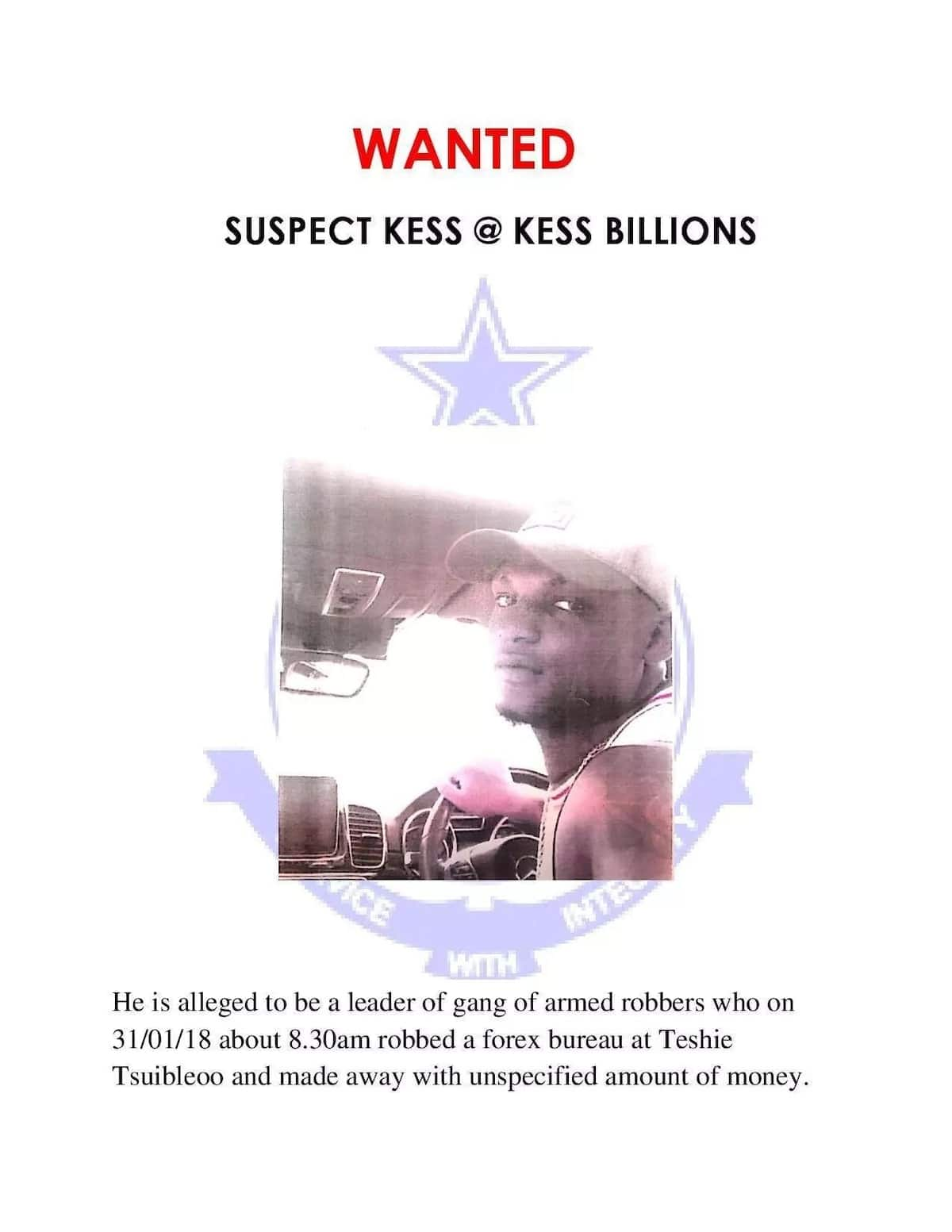 The notorious Nigerian forex bureau robber in Accra, Kess@Kess Billions