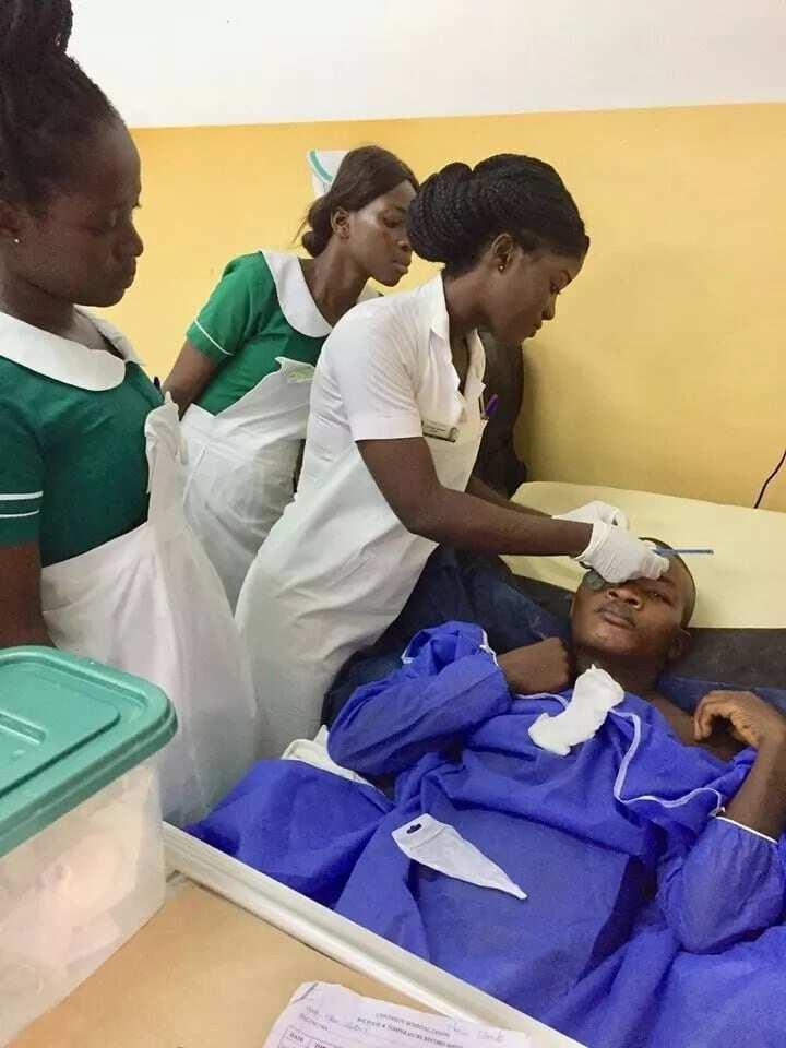 Meet Maabs Aduwaa Yankson the 'Nurse-Barber' who has won many hearts with her kindness